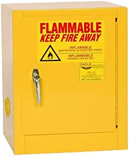 Eagle 1901 Safety Cabinet for Flammable Liquids, 1 Door Manual Close, 2 gallon, 17-1/4