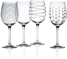 Mikasa Cheers White Wine Glasses, Clear, Set of 4 - SW910-403