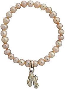 Jo para infantil para perlas blancas y Ballet de ante para patucos para pulsera 12,7 cm