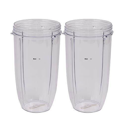 LilyJudy Vasos de 32 onzas (paquete de 2) | para piezas de repuesto Nutri y accesorios | Se adapta a la licuadora Nutri 600w y Pro 900w