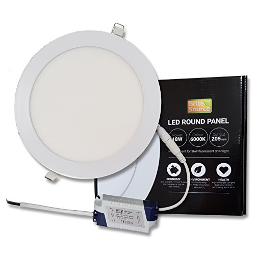 LED PANEL LICHT plafond lamp 18W 3000K warm wit 205mm