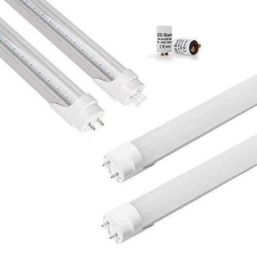 Preisvergleich Produktbild Maidodo 2pcs T8 G13 90cm LED Tube Röhre Rohr 3ft 13W Leuchtstoffröhre Leuchtstofflampe 1170LM 72SMD Leuchte Leuchtmittel Neutralweiß 4000-4500K Milchig Abdeckung inkl. LED Starter