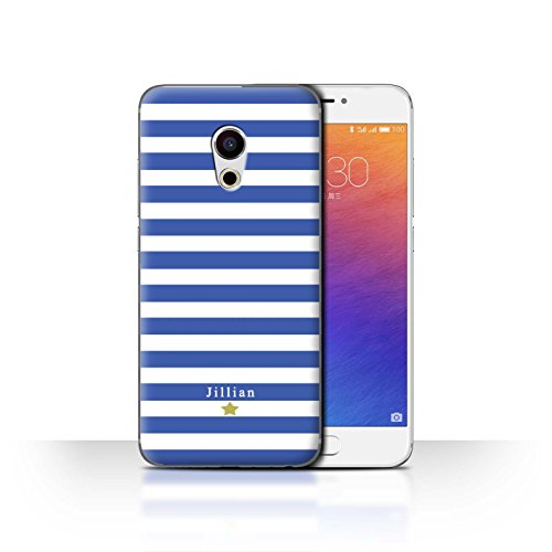 Stuff4 Phone Case/Cover/Skin/mzupro6/Custom Stripes/Striped Collection Étoile Rayure Bleu