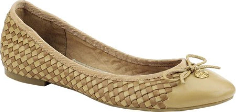 Sperry Top-Sider Women's Ariela Woven Flat, Beige, Size 5.0