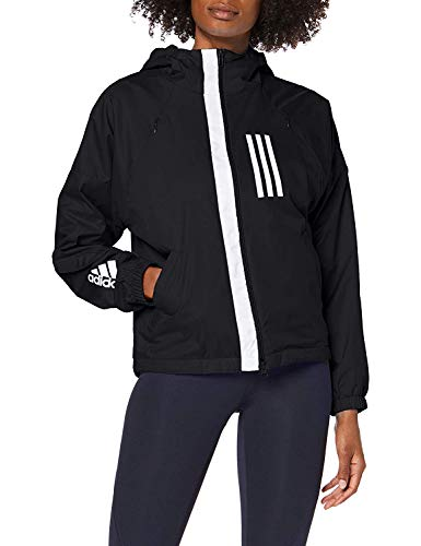 adidas W WND JKT FL Sudadera, Mujer, Black, S