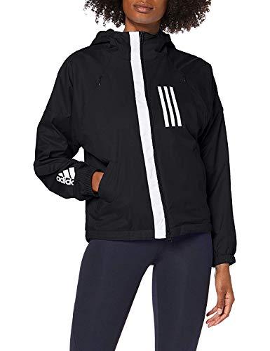 adidas W WND JKT FL Sudadera, Mujer, Black, L