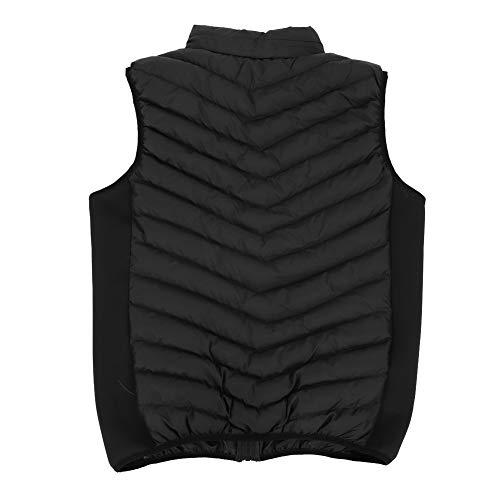 Ciepła ogrzewana kamizelka, czarny wodoodporny żakiet gleetowy 75 x 55 cm system ogrzewania z bawełną do ubrań