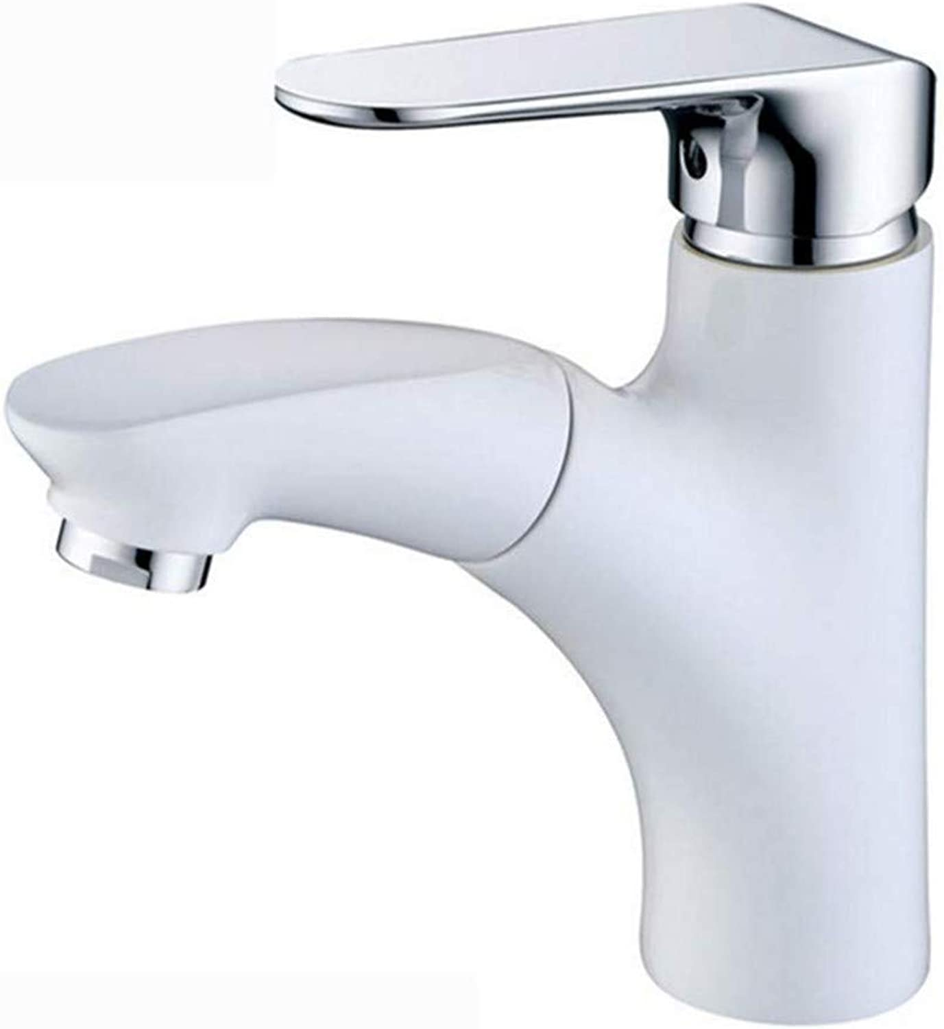 Basin Taps Swivel Spout Faucet White Modern Washbasin Sink Faucet