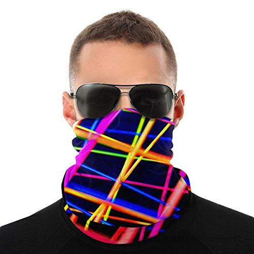 OUY Coloridas Líneas Resumen Transpirable Protector De Cuello De La Pierna De La Guardia De La Cara De La Máscara De La Cara De La Bufanda Del Turbante Pasamont