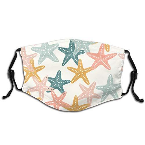 Starfish Butterscotch Beach NauticalHet stofmasker kan worden gefilterd en hergebruikt, de winddichte neusklem, het masker voor volwassenen met filter kan door mannen en vrouwen worden aangepast. 1 PCS