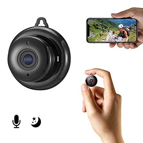 Mini Kamera, 1080P HD Wireless Zuhause Sicherheit ¨¹berwachungskamera, Tragbare Nanny Kamera mit IR Nachtsicht und Bewegungserkennung, Micro CCTV Videokamera f¨¹r Innen und Au?enbereiche