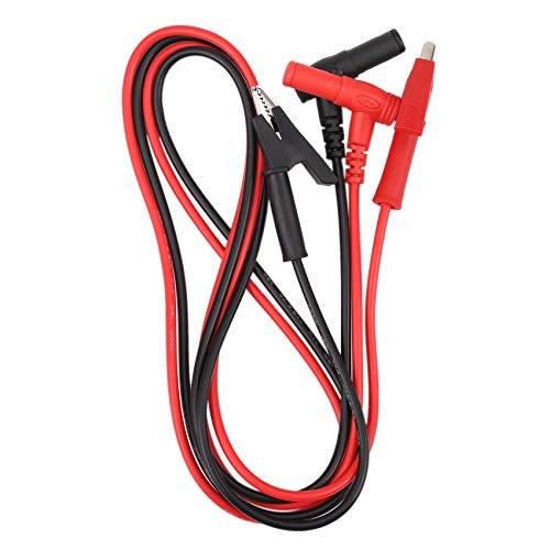 Andifany Empareje Conector Tipo Banana Cable Prueba con Clip Cocodrilo Cable Prueba Laboratorio con Clip Tipo Cocodrilo con Conector Tipo Banana Heavy Duty 1M de Largo para MultíMetro