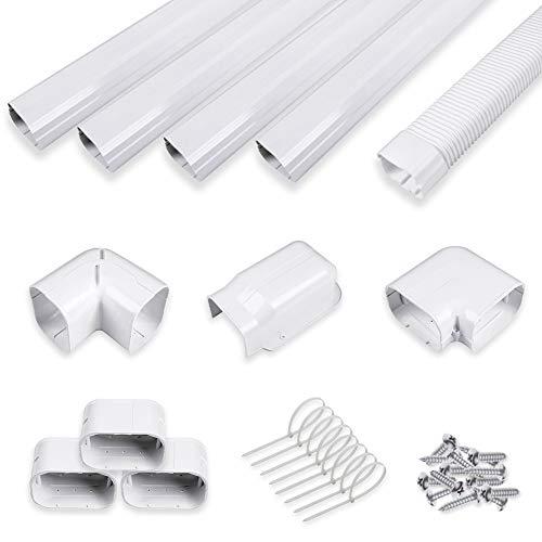 LyPrem 4' 14Ft PVC Decorative Line Cover Kit for Ductless Mini Split Air Conditioners