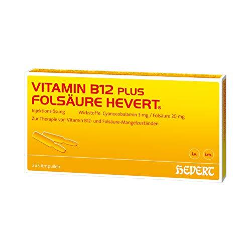 Vitamin B12 plus Folsäure Hevert Ampullen, 10 St. Ampullen