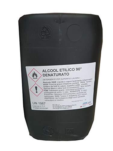 Alcohol desnaturalizado industrial con cómodo grifo (10 l) color rosa