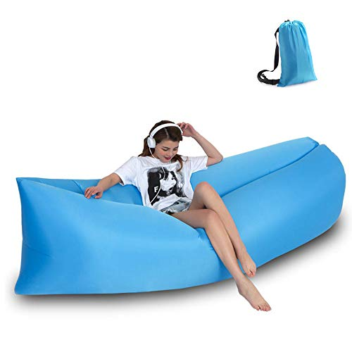 Flocking Inflatable Sofa Camping Chair for Home Office Bedroom Outdoor chelseabyt Portable Beanless Bag Air Inflatable Chair