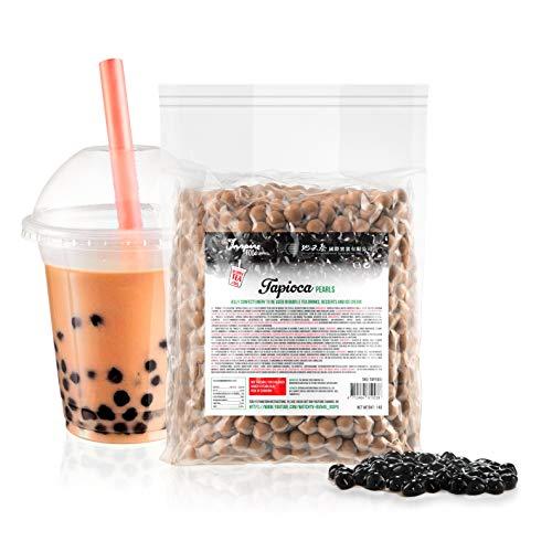 Tapiokaperlen für Bubble Tea - 1 kg | Hochwertige Tapioca Pearls passen auch lecker in Cocktails, Weinschorlen, Sekt, Joghurt und anderen Desserts