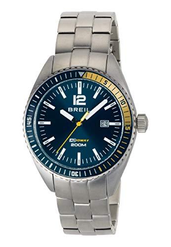 Orologio BREIL per uomo MIDWAY con bracciale in acciaio, movimento SOLO TEMPO - 3H QUARZO