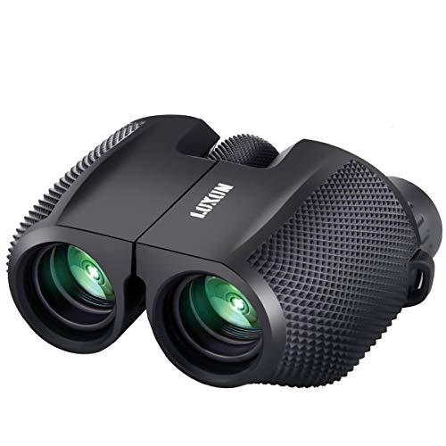 SGODDE Compact Binoculars for Adult Kids 10x25 Waterproof Binocular Weak Light Night Vision Folding High Powered Clear Binoculars Lightweight Bird Watching