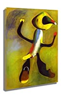 キャラクタージョアン・ミロ 油絵 複製画 絵画 インテリア アートフレーム 複製絵 絵画 プレゼント-リビング、ダイニング、寝室、お風呂、オフィス、バー(40x65cm-16x26インチ、フレーム)