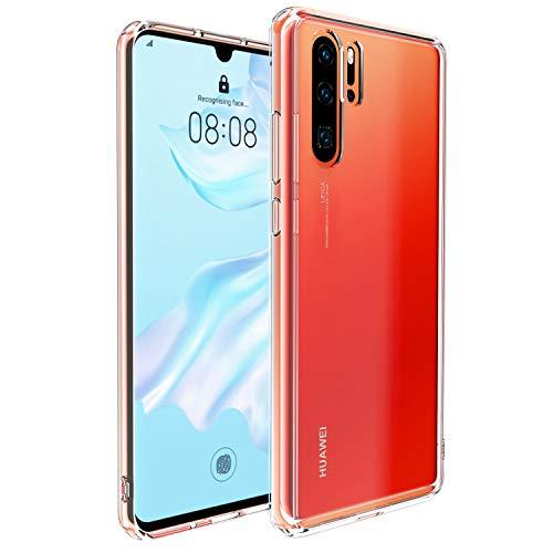 UNBREAKcable Funda para Huawei P30 Pro [Absorción de Golpes, antiamarilleo] Crystal Clear Hybrid Bumper de TPU Suave Cubierta Posterior de Policarbonato Duro Carcase para Huawei P30 Pro- Transparente