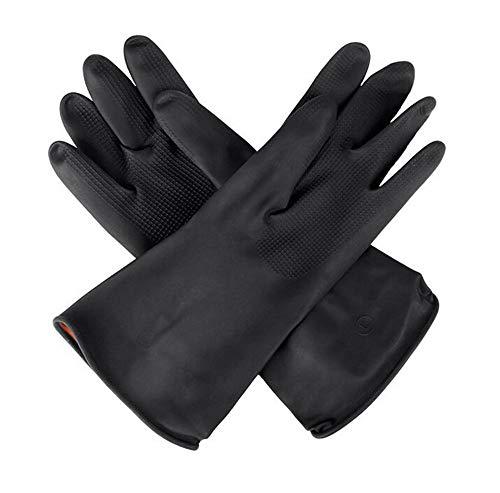 QYL 2 Stks Rubber Handschoenen Latex Handschoenen, Vaatwasser, Wasserij, Huiswerk Handschoenen, Zuur En Alkali Bestand Industrieel