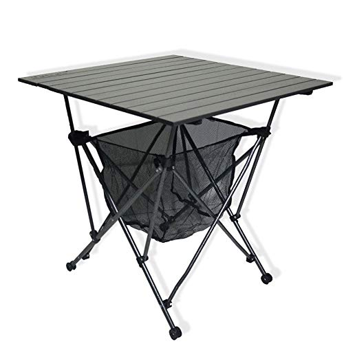 A - Z ZA Opvouwbare Aluminium Bureau Draagbare Drijfbare Outdoor Picknick Tafel Zelfrijdende Camping Barbecue Beach Tafel met Hangmat Stijl Opslag Mand & Draagtas