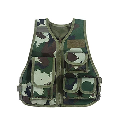 Nuobi Chaleco para niños, Chaleco de Combate para niños, Chaleco de Caza para niños, Dos Tallas (S/L) Rip(Armed Police Camouflage, L)