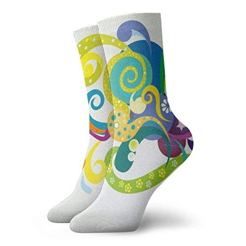 Warm-Breeze Abstact Floral Compression Socks Unisex Socks Fun Fun Crew Socks Thin Socks Short Ankle For Outdoor Athletic Moisture Wicking