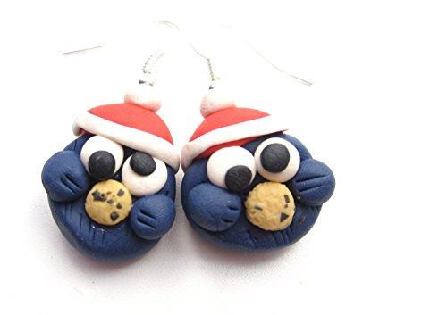 Winter-Keks Monster Ohrringe Ohrschmuck cookie winter handmade