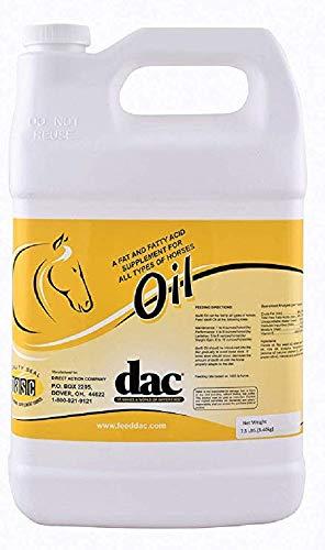 DAC Oil Gallon Jug Horse Weight Gain Calorie Fat Fatty Acid Coat Skin Health Supplement