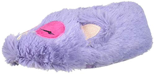 MUK LUKS Girl's Owl Slippers, Lavender, S (10-11) M US Big Kid