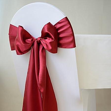 pack of 125  Rosa Satin Schleifenbänder für Hochzeit Stuhlschleifen Schärpe