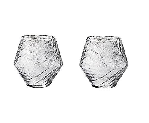 Plicement Juego De 2 Vasos De Whisky Whirlwind, Cristalería De Cóctel De Cristal De Primera Calidad, Vasos De Degustación De Vidrio De Moda Antigua para Beber Winebowl