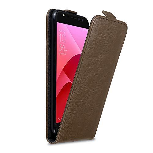 Cadorabo Hülle für Asus ZenFone 4 Selfie Pro in Kaffee BRAUN - Handyhülle im Flip Design mit Magnetverschluss - Hülle Cover Schutzhülle Etui Tasche Book Klapp Style