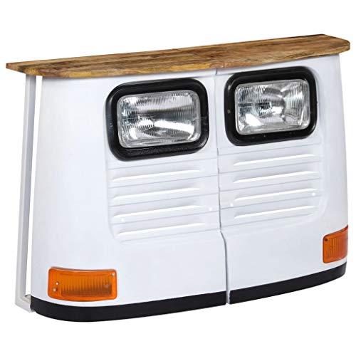 ROMELAREU vrachtwagen-sideboard mangohout massief wit meubels kasten buffets & dressoirs
