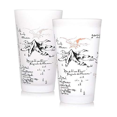 Herr der Ringe - Vaso XXL – 450 ml con efecto frío – Tierra media – Caja de regalo