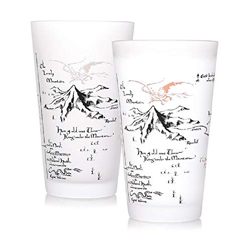 Herr der Ringe - XXL glass - 450 ml with cold effect - middle earth - gift box