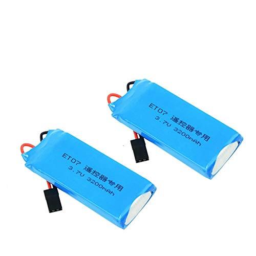 RFGTYH Batería Lipo para transmisor 1S 3.7V 3200mAh 8C para WFLY ET07 X4 T7 T6II RC Radio Control Remoto Repuestos