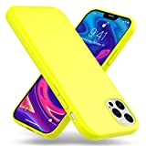 Kaliroo Neon Case compatibile con IPHONE 12 PRO MAX Custodia, Sottile Silicone Cover Colorato Protettiva Antiurto Bumper, Slim Skin Telefono Cellulare Protezione Resistente Guscio, Colore:Giallo