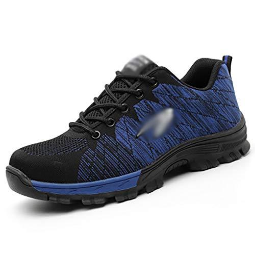 Calzado de protección Zapato de trabajo hombres mujeres entrenadores zapatos puncos a prueba de trabajo zapatillas de deporte ligero transpirable industrial y construcción zapato, zapatillas para homb