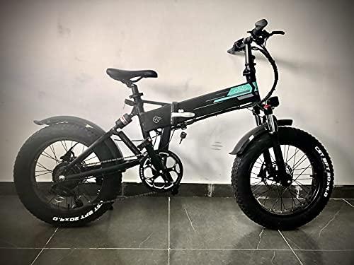 Bici Elettriche Bicicletta Elettrica E-Bike, 20 Pollici 48V 500W, Max 50Km/H, 12,8Ah, Display LCD, 3Spessi, Batteria rimovibile, Pneumatici antiscivolo(Magazzino locale)