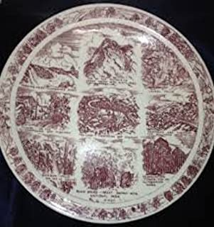 Rustic Great Smoky Mountains Souvenir Plate, Great Smoky Mountains Decorative Plate