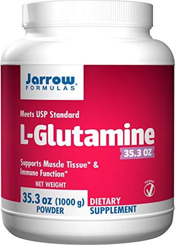 Jarrow Formulas L-Glutamine Powder, Supports Muscle Tissue, 2 g per Serving, 35.3 Oz