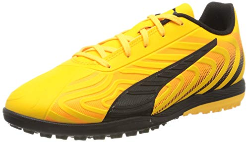 Puma Unisex One 20.4 Tt Jr Botas de fútbol, Gelb (Ultra Yellow Black-Orange Alert), 37.5 EU