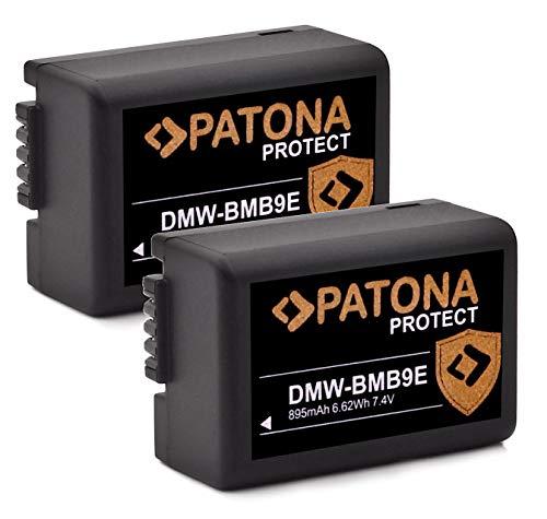 PATONA Protect V1 - Batería para Panasonic Lumix DC FZ82 DMC FZ72 FZ62 FZ45 FZ48 FZ100 FZ150 Leica V-LUX 3 (2 unidades)