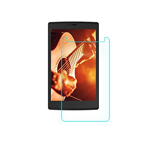 Colorcase Tablet Tempered Glass Screenguard for Micromax Canvas Tab P802 - {Transparent}