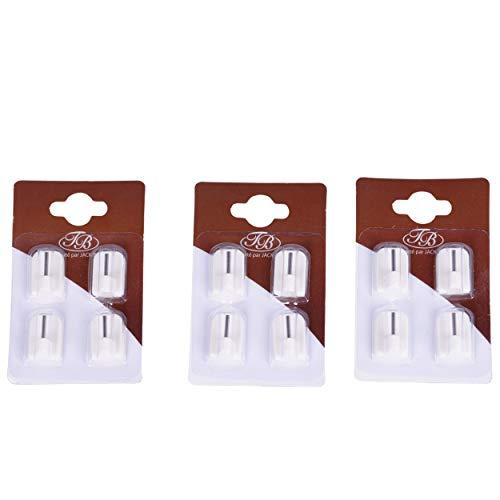 12 Ganchos adhesivos, pegatinas o sujetadores para barras de cortina o barras de cortina, fijación de cortina adhesiva, soportes adhesivos pitones Cortinas adhesivas sin taladrar la ventana