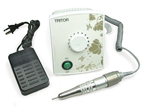 TRITOR ONE Nagelfräser weiß/weiß - Elektrische Nagel-Feile für Gel-Nägel - Fräser - Maniküre - Podologie Pediküre