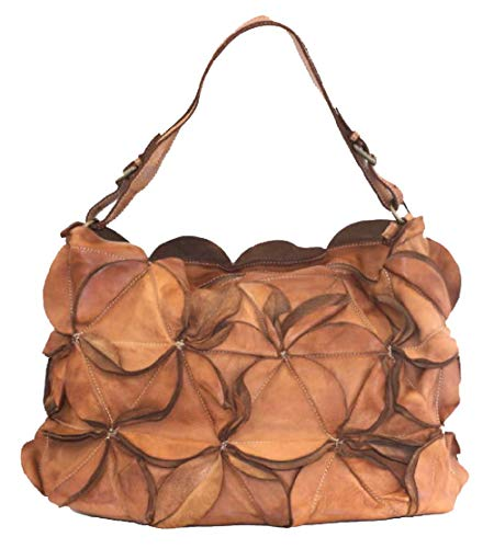 BZNA Bag Peppina cognac Italy Designer Damen Handtasche Schultertasche Tasche Leder Shopper Neu